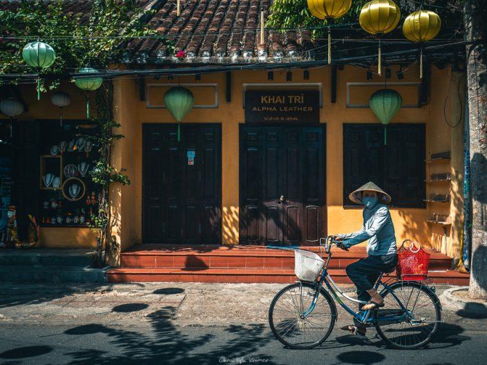 Fahrradfahrer in Hoi An