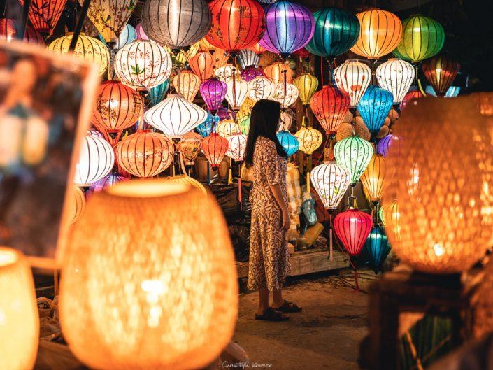 Laternen Verkäufer in Hoi An