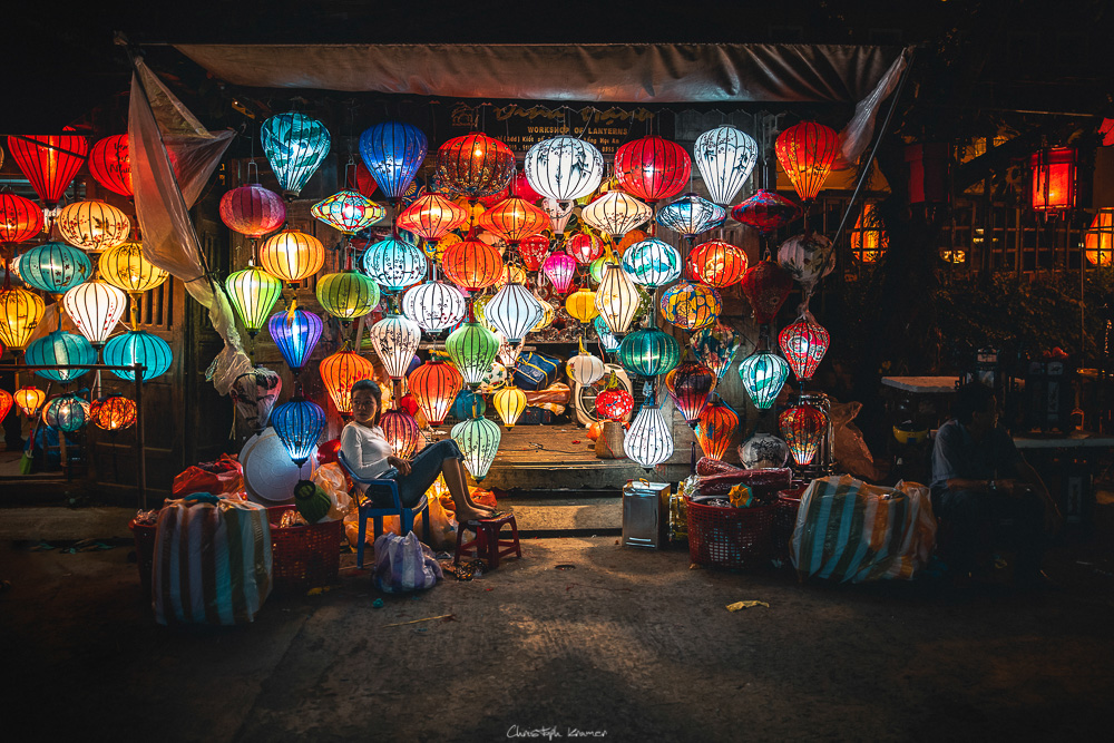 Laternenverkäuferin in Hoi An