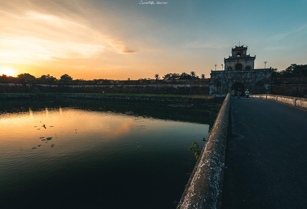 Das Gate bei Sonnenuntergang