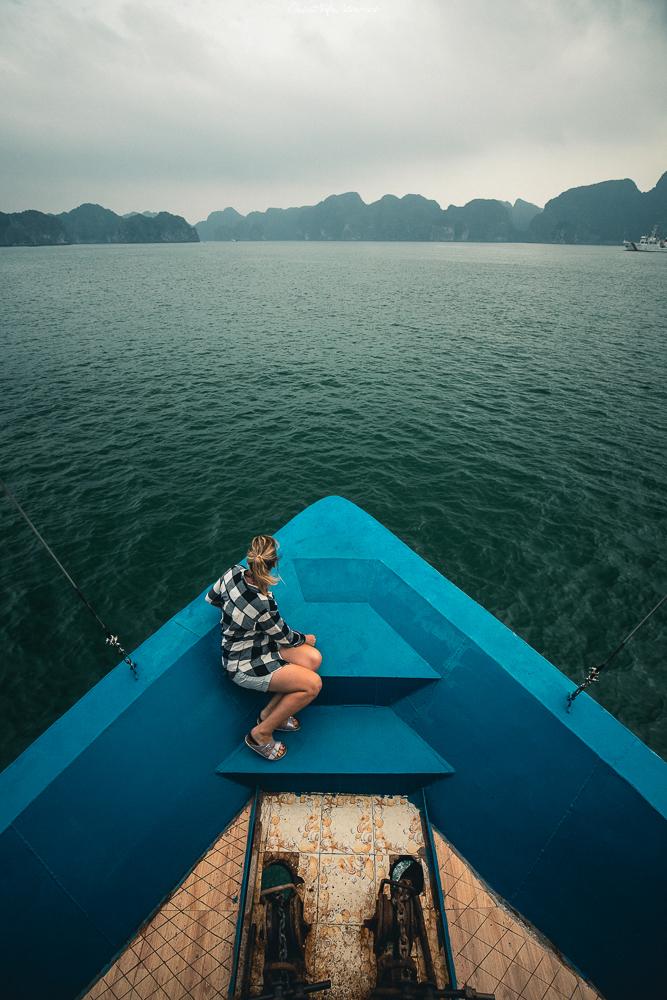 Unterwegs in der Halong Bucht