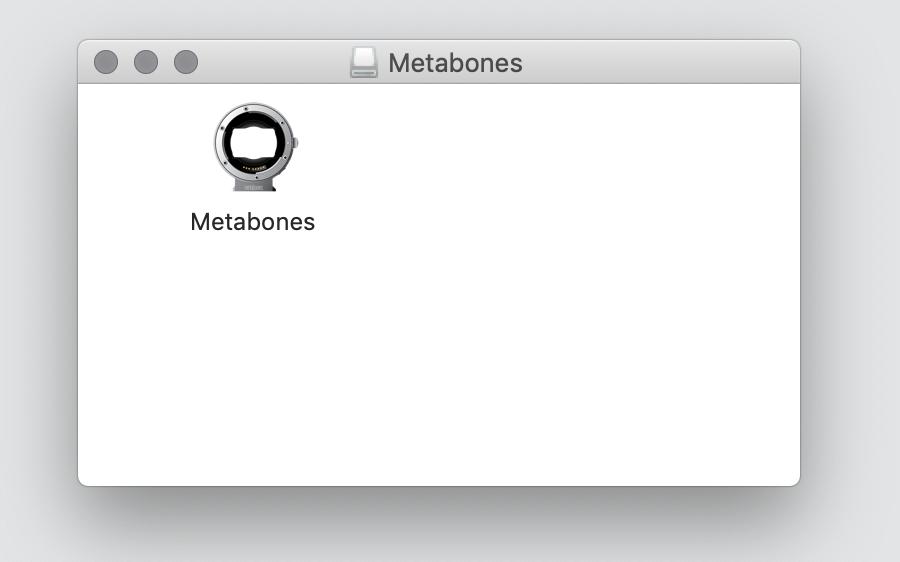 Metabones Software mit Doppelklick starten