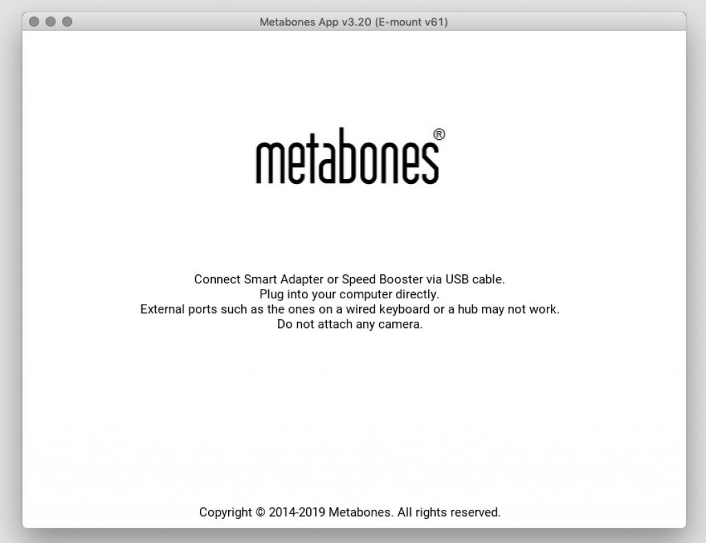 Metabones Adapter mit dem Computer verbinden