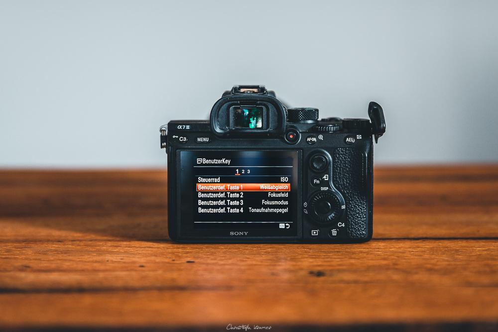 Sony A7 III Kameramenü: BenutzerKey: Benutzerdef. Taste1