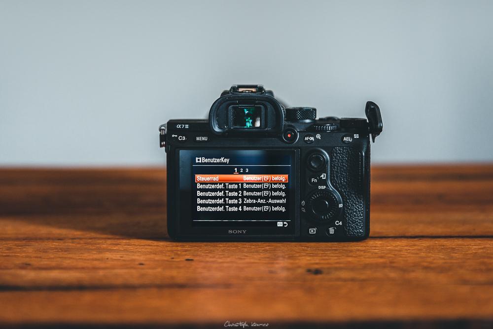Sony A7 III Kameramenü: BenutzerKey: Filmmodus