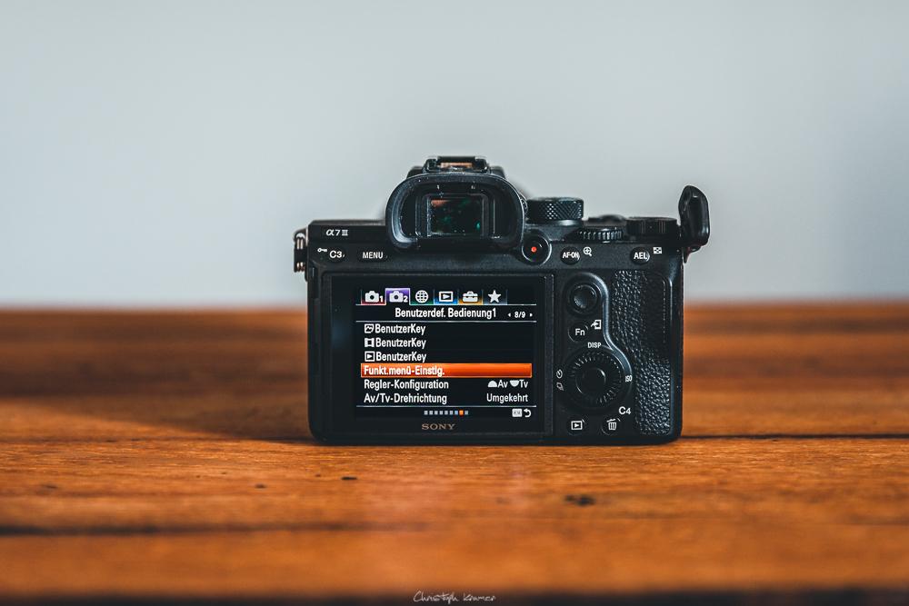Sony A7 III Kameramenü: Funktionsmenü anpassen