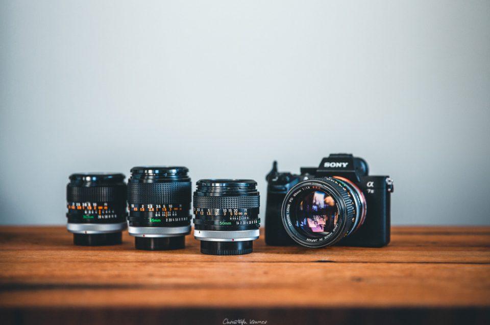 Canon FD Objektive an der Sony A7 III