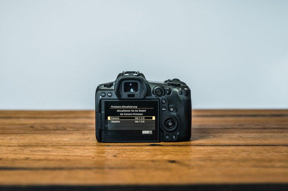 Canon EOS R5 Firmware Update installieren